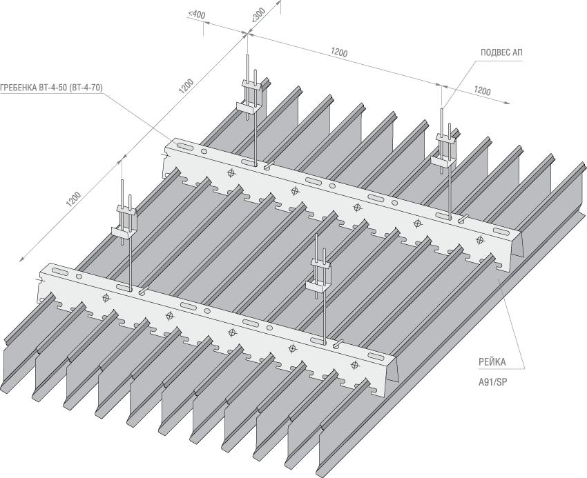 схема сборки реек