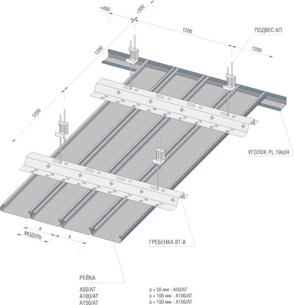 схема сборки реек omega албес