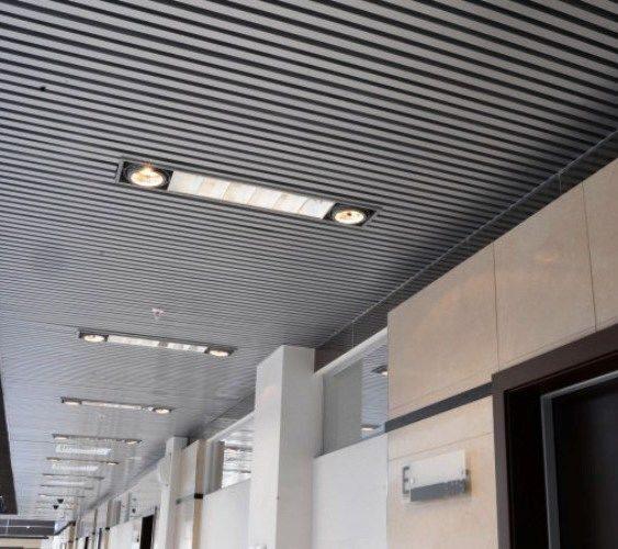 Реечные потолки (Москва, Санкт-Петербург). Купить Реечный потолок кубообразного дизайна цена